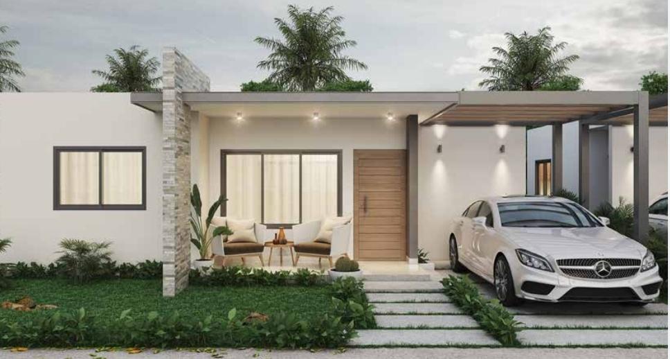 Proyecto en construcción de casas Bávaro – Punta Cana