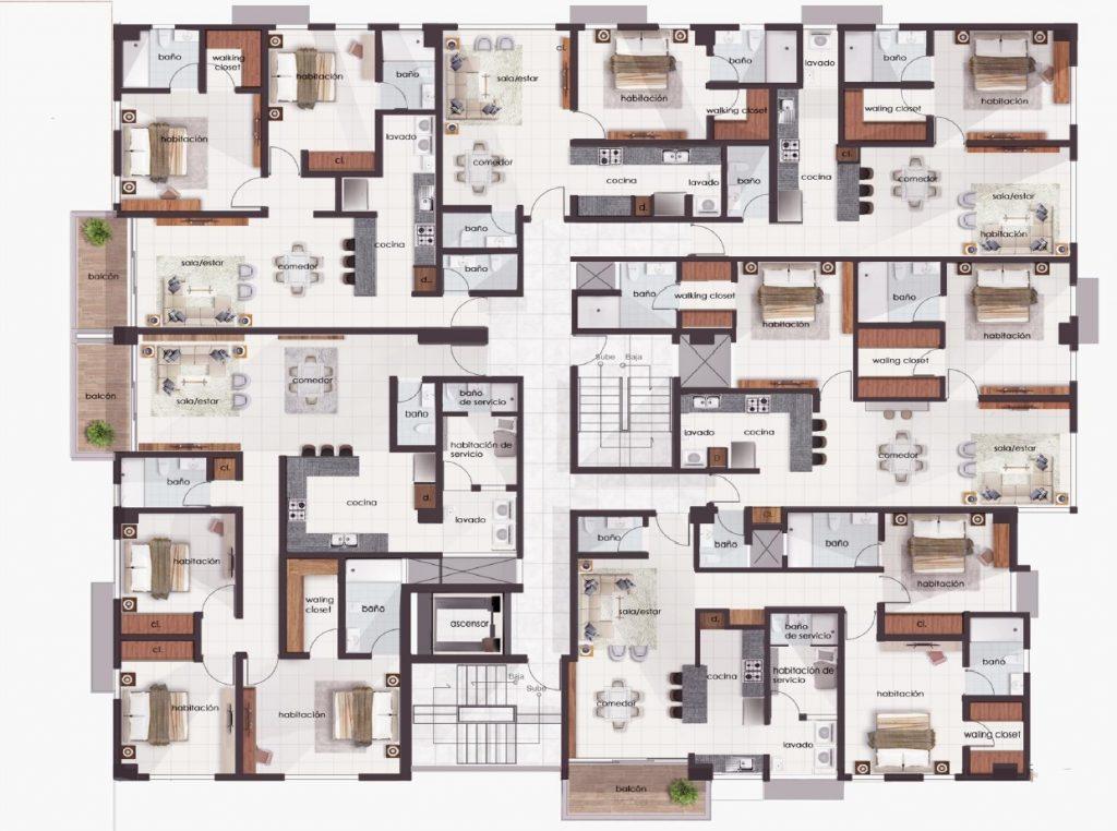 Proyecto de apartamentos en la Zona Universitaria